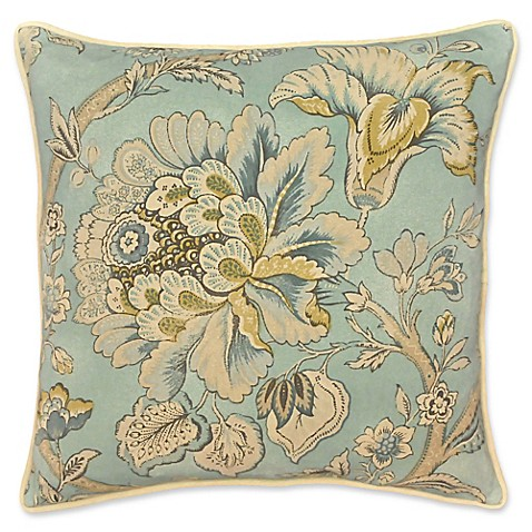 Rose Tree Decorative Pillows : Buy Rose Tree Odessa Floral Square Throw Pillow in Teal from Bed Bath & Beyond