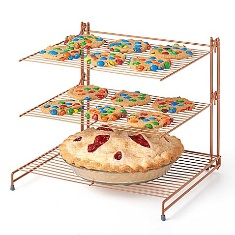 Nifty Copper 3-Tier Cooling Rack - Bed Bath & Beyond