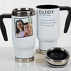 image of Definition of Dad/Grandpa 14 oz. Photo Commuter Travel Mug