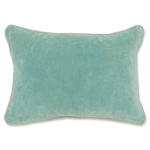 Buy Villa Home Velvet Oblong Throw Pillow in Tidal from Bed Bath & Beyond