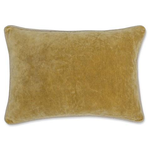 Buy Villa Home Velvet Oblong Throw Pillow in Gold from Bed Bath & Beyond
