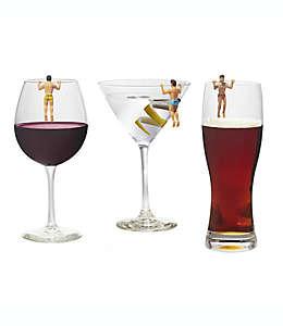 Marcadores para bebidas de PVC Drinking Buddies NPW, Set de 6 pzas.