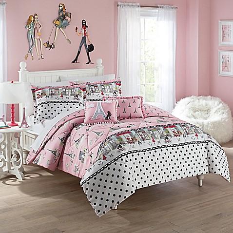 Waverly Kids Ooh La La Reversible Comforter Set Bed Bath