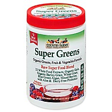 image of Country Farms 9.88 oz. Super Greens Organic Drink Mix in Berry