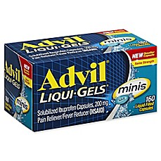 image of Advil® Liqui-Gels® minis 160-Count 200 mg Solubized Ibuprofen Capsules