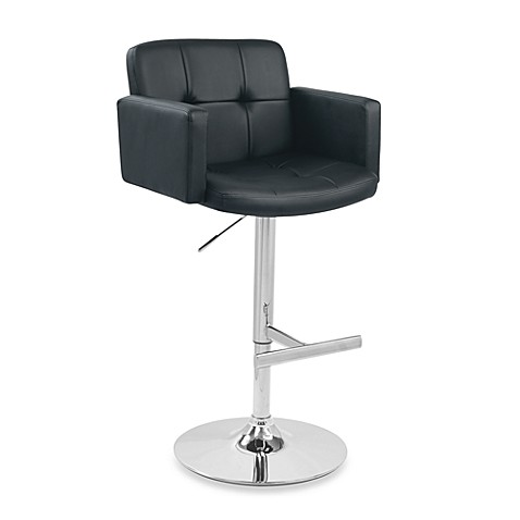 LumiSource Stout Bar Stool in Black