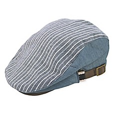 image of Rising Star™ Stripe Chambray Cabby Hat in Blue