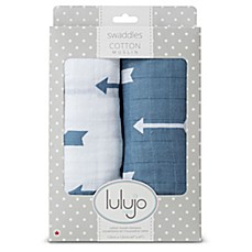 Lulajo Baby 2-Pack Arrows Muslin Swaddle Blanket Set  in White