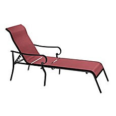 image of hawthorne oversized adjustable sling chaise lounge in red