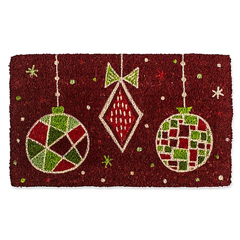 Entryways Geo Ornaments 18-Inch x 30-Inch Coconut Fiber Multicolor Door Mat