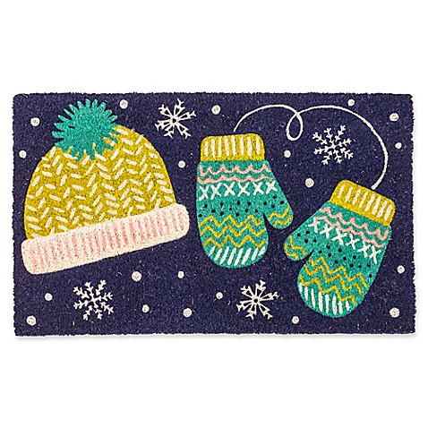 Entryways Mittens 17-Inch x 28-Inch Multicolor Door Mat