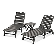 image of polywood nautical 3piece chaise set