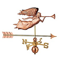 image of Good Directions Angel with Arrow Weathervane in Copper