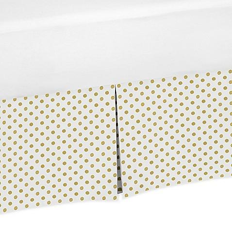 Buy Sweet Jojo Designs Amelia Polka Dot Crib Skirt In Gold