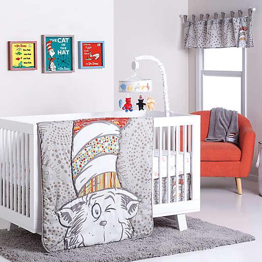 Trend Lab Dr Seuss K A Boo Cat, Dr Seuss Crib Bedding
