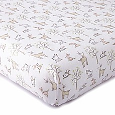image of Levtex® Baby Skylar Woodland Fitted Crib Sheet in Blush