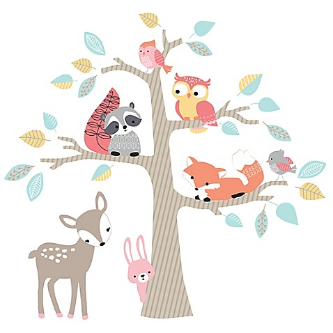 Lambs Amp Ivy 174 Little Woodland Forest Wall Decals Bed Bath