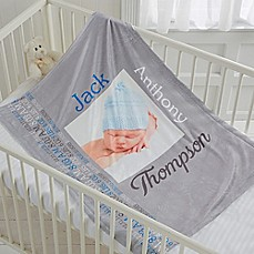 image of Darling Baby Fleece Photo Blanket