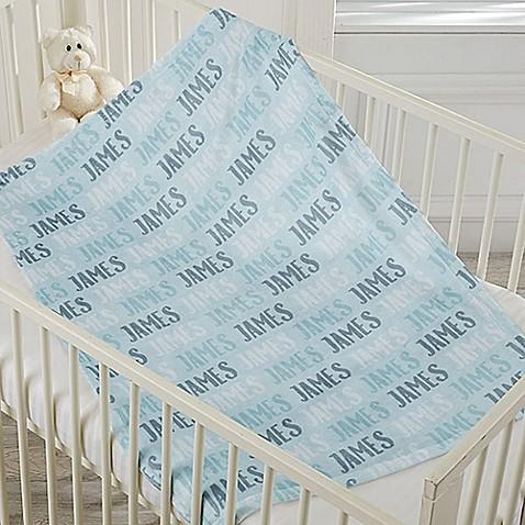 Modern Name Fleece Baby Blanket Buybuy Baby