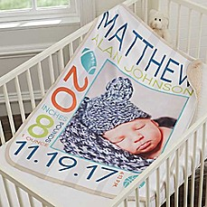 Personalized baby blankets custom baby throws bed bath beyond image of sweet baby premium sherpa photo blanket negle Image collections