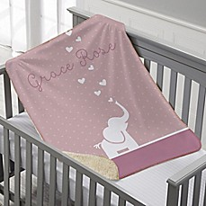 Personalized baby blankets custom baby throws bed bath beyond image of baby zoo animals premium sherpa throw blanket negle Image collections