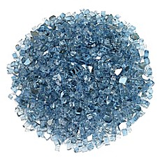 image of American Fireglass Reflective Fire Glass in Pacific Blue
