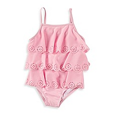 image of Baby Buns Ashley Scallop Edge 1-Piece Swimsuit