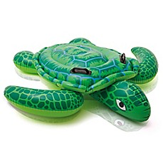 image of Intex Lil Sea Turtle Ride-On Pool Float in Green