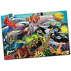 image of The Learning Journey Puzzle Doubles! Glow in the Dark Sea Life Puzzle