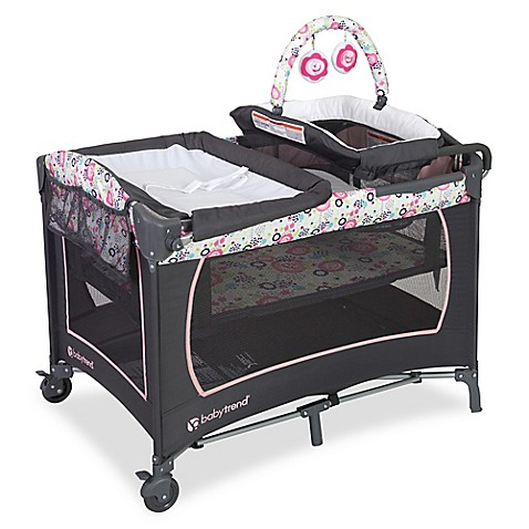Baby Trend 174 Lil Snooze Floral Deluxe Nursery Center