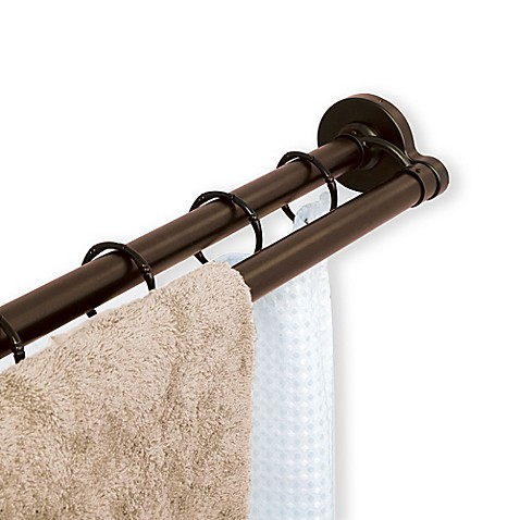TITAN™ NeverRust™ Aluminum Double Straight Shower Rod - Bed Bath ...