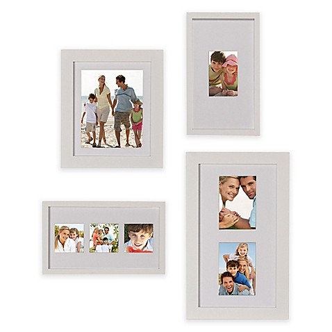 buy gallery 4 piece wood picture frame set in white from bed bath beyond. Black Bedroom Furniture Sets. Home Design Ideas