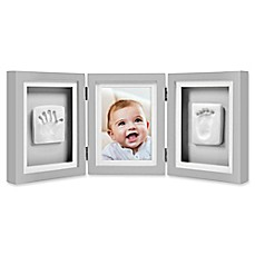 image of Pearhead® Babyprints 4-Inch x 6-Inch Deluxe Photo Frame in Grey