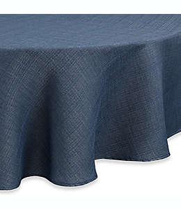 Mantel redondo de poliéster Noritake® Colorwave de 1.77 m color azul
