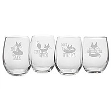 image of Susquehanna Glass Infoxicated Stemless Wine Glasses (Set of 4)