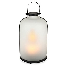 image of Gerson FireGlow™ Frosted Glass Lantern