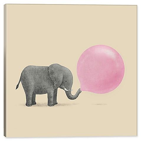 iCanvas Terry Fan Jumbo Bubble Gum 37-Inch Square Canvas Wall Art ...