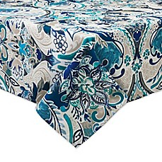 image of Bardwil Linens Tasha Indoor/Outdoor Tablecloth