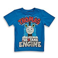 "image of Thomas & Friends® ""Thomas the Tank Engine"" Short Sleeve T-Shirt in Blue"