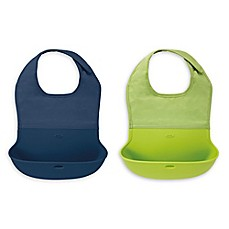 image of OXO Tot® 2-Pack Roll Up Bibs