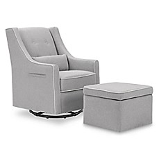 image of Davinci Owen Glider and Storage Ottoman