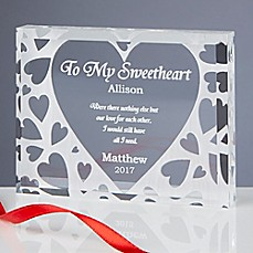 image of To My Sweetheart Keepsake