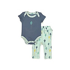 image of Finn + Emma® 2-Piece Kite Bodysuit and Pant Set in Blue
