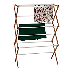 image of Household Essentials® Collapsible Clothes Drying Rack in Natural/White
