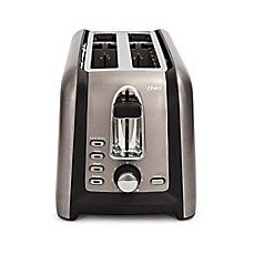 image of Oster® 4-Slice Long Slot Toaster in Black Stainless