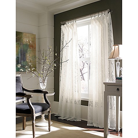 Branchbrook 84-Inch Window Curtain Panel in White