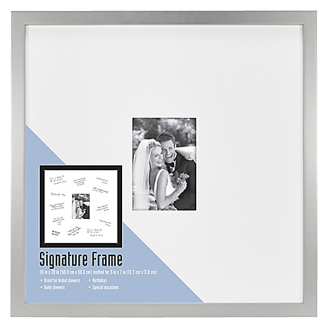 Gallery Wood Signature 5-Inch x 7-Inch Picture Frame in Silver - Bed ...