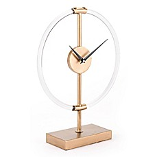 image of Zuo® Modern Clear Clock in Gold