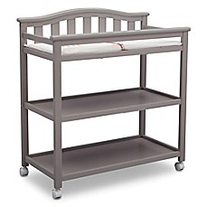 Image Of Delta Children Bell Top Changing Table In Grey
