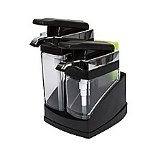image of Casabella® Sink Sider™ Duo Dispenser with Sponge in Black